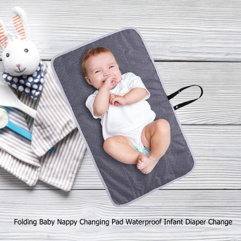 Portable Baby Care Folding Baby Nappy Changing Pad Waterproof Infant Diaper Change Cotton Mat Travel Stroller Accessories