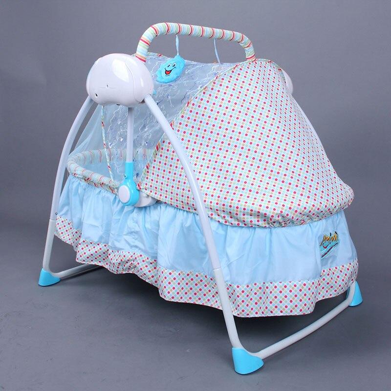 Intelligent électrique bébé berceau ensemble de lit pliable puériculture confortable dormeur voyage couffin lit bébé confort Intelligent bébé berceau lit - 4