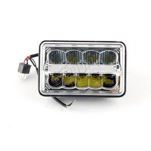 Image 4 - Envío gratis 4x6 LED faro 45W camión faro H4 led kit H4651/H4652/H4656/H4666/H654 camiones de servicio pesado remolque transporte