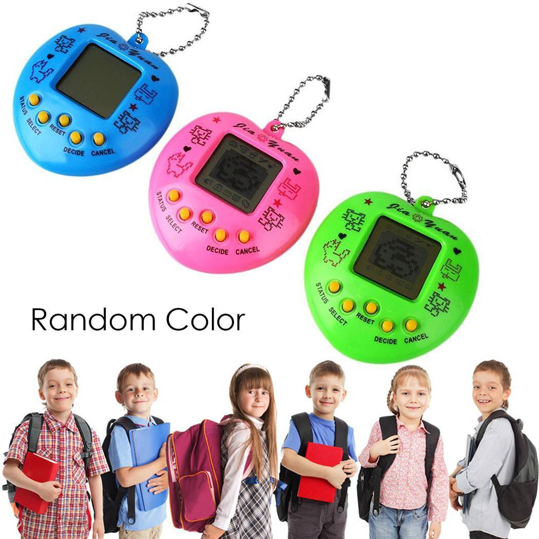 Machine Random Electronic New Game Nostalgic Digital Button Heart-shaped Pet Virtual Battery
