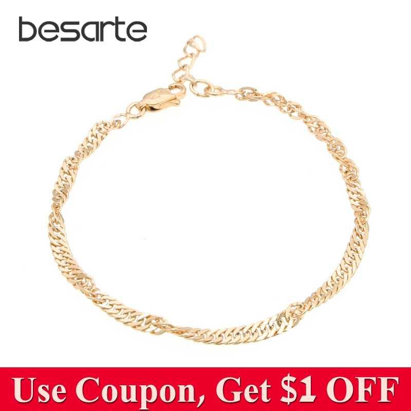 8144d766558f 17CM Baby Bracelets Gold Kids Bracelet Bebe Boy Jewelry Christening Pulsera  Bebe Bracelete Bracciali Nina Armband