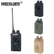 1000D Nylon Tactical  Military Molle Radio case holder Pouch Sports Pendant Walkie Talkie Holder Bag Magazine Mag Pouch Pocket все цены