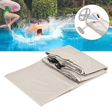 Pool Roll Cover Beige Open Air Swimming Pool Roll Cover Waterproof Protector for Outdoor Heavy Duty Garden