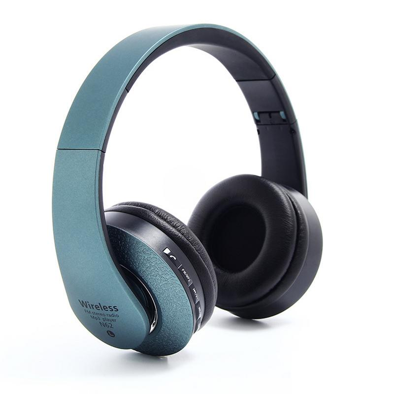 Image 2 - Bluetooth Headphones Over Ear Hi Fi Stereo Wireless Headset Foldable Soft Memory Protein Earmuffs Built in Mic Noise Cancelling-in Bluetooth Earphones & Headphones from Consumer Electronics