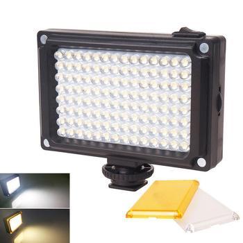96 światło LED do kamery On-zdjęcie z kamery oświetlenie studyjne Hot Shoe lampa LED Vlog wypełnij światło do kamery telefonicznej aparat Canon Nikon DSLR tanie i dobre opinie EastVita CN (pochodzenie) NONE