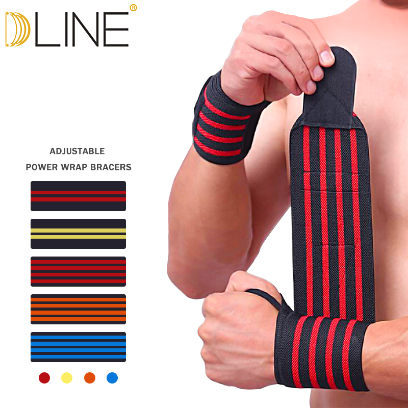 1PC Sports Gym Power Training Bracers Wrister Weightlifting Wrist Protector Pressure Cuff Wrist-band Wrap Wind Belt Men Women
