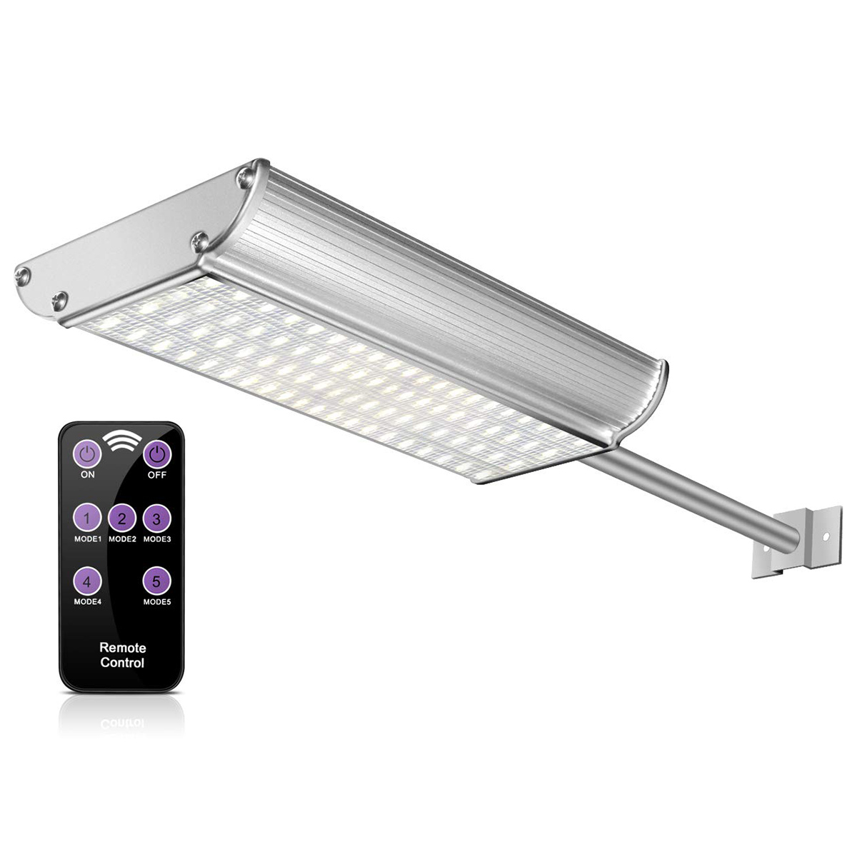 Solar Lights Outdoor With Remote Control 70 Led Wireless Motion Sensor With 5 Optional Modes Wall Sconces Ip65 Waterproof Secu