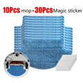 10pcs Cleaning MOP Cloths with Magic Stickers for Xiaomi Robot Vacuum Cleaner
