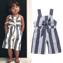 Infant Baby Kids Girls Striped Jumpsuit Romper Clothes Outfits Playsuit