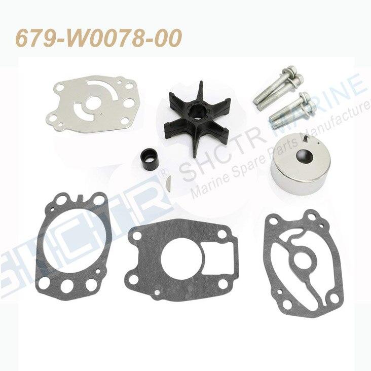 SHCTR Water Pump & Impeller Kit For OEM 679-W0078-00,Sierra 18-3397,40/50HP