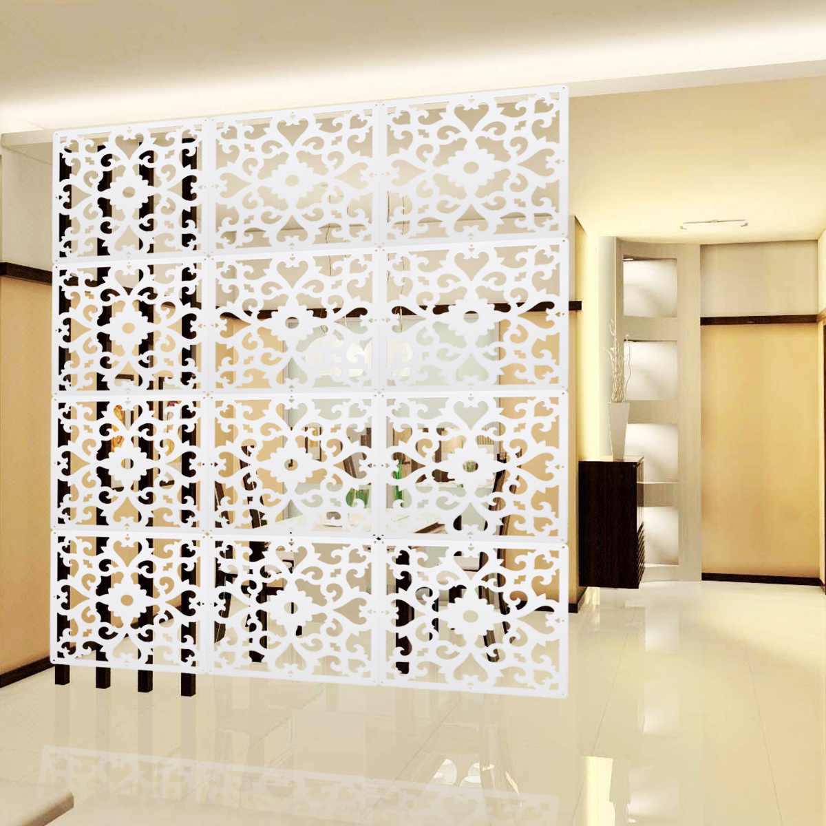 PVC tenture murale salle écran diviseur 12 Pcs/Lot panneaux de rideaux cloisons écrans espace sculpté Division maison décoration artisanat