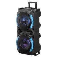 120 см Высота Большой размеры динамик тележка bluetooth с микрофоном Super Bass вечерние колонка, Портативная колонка открытый динамик