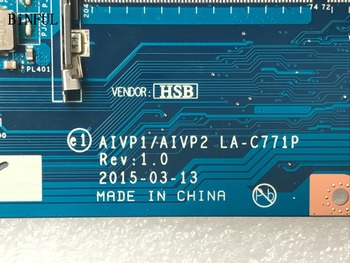 BiNFUL HOT IN RUSSIA 100% NEW LAPTOP MOTHERBOARD AIVP1/AIVP2 LA-C771P FOR LENOVO 110-15IBY NOTEBOOK  N3540 DDR3L