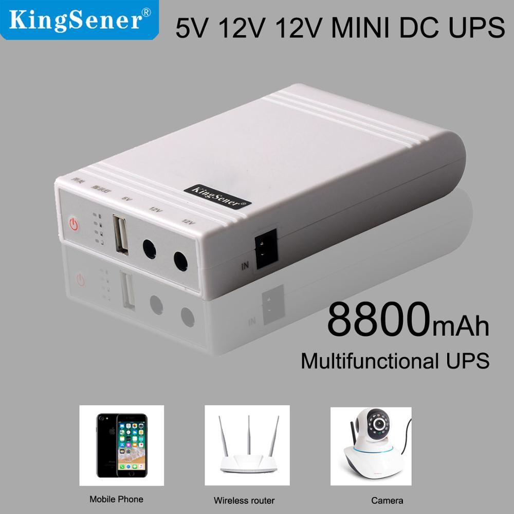 Kingsener mini batterie externe 5 V 12 V batterie de secours d'urgence 8800 mAh ups batterie externe pour routeur Wifi et UPS multifonctions mobiles