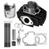 New For YAMAHA PW 50 1981 2009 Big Bore Kit To 60cc Top End Set 60cc Piston Engine Cylinder Rings + For SPARK PLUG + Gasket