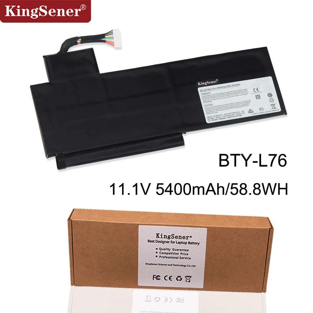 KingSener Nouveau BTY-L76 batterie d'ordinateur portable Pour MSI GS70 MS-1771 1772 1774 GS72 WS72 XMG C703 S4217T MD98543 BTY-L76 11.1 V 5400 mAh