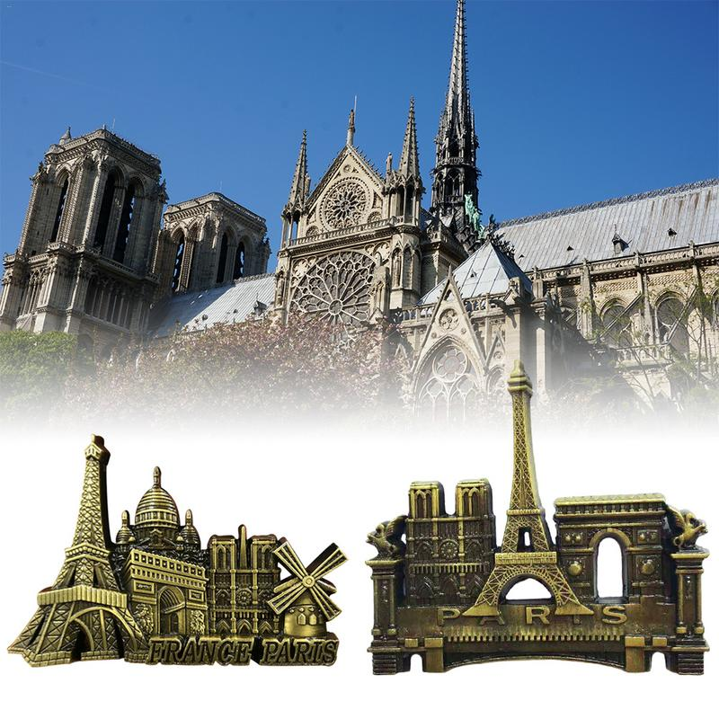 Notre Dame Home Decor: Innovative Metal 3D Fridge Magnet Pattern Notre Dame De