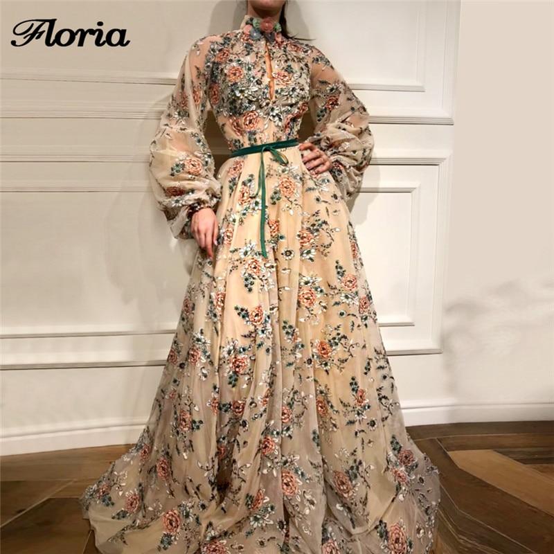African Dubai Glitter Long Formal   Evening     Dresses   Robe de soiree Aibye Muslim Turkish Big Sleeve Pageant Prom   Dress   Abendkleider