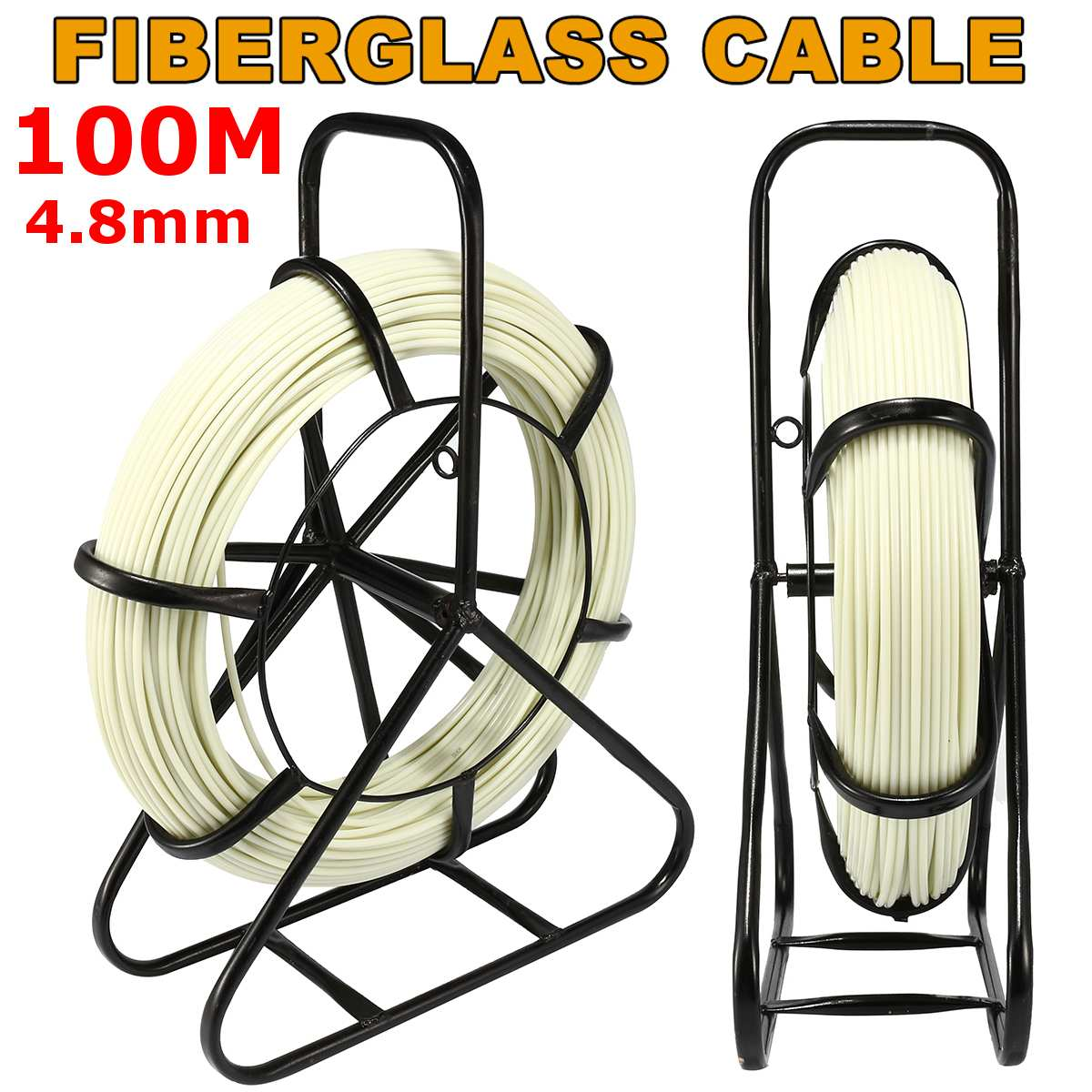 4.8mm 100M Fiberglass Wire Cable Running Rod Snake Fish Rodder Puller Flexi Lead Electric Fiberglass Wire Cable Running Rod New4.8mm 100M Fiberglass Wire Cable Running Rod Snake Fish Rodder Puller Flexi Lead Electric Fiberglass Wire Cable Running Rod New