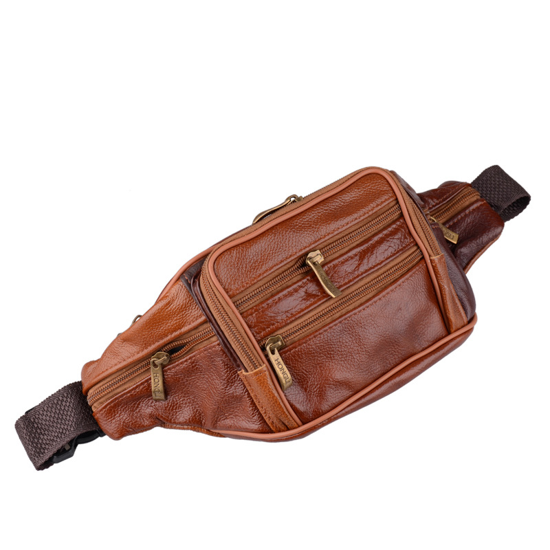Genuine Leather Waist Bags Men Fanny Bag For Phone Pouch Male Leather Messenger Bags Brand Fanny Pack Male Travel Waist Packs