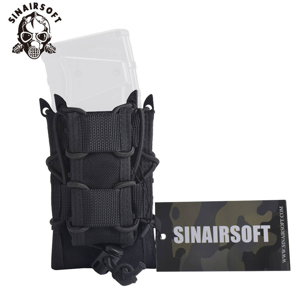 SINAIRSOFT Tactical Military Double Deck 1000D Nylon Fast MAG Pistol Rifle Molle Magazine Pouch For M4 M16 AK Glock 1911 Hunting