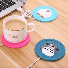 Новейший горячий полезный USB теплая чашка милый мультфильм нагревательный коврик теплый коврик Электрический изоляционный подстаканник для кофе чая