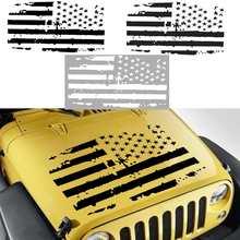 Decalque de Vinil Adesivo de carro Americano Da Bandeira DOS EUA Capa Apagão Para Jeep/Wrangler JK TJ YJ