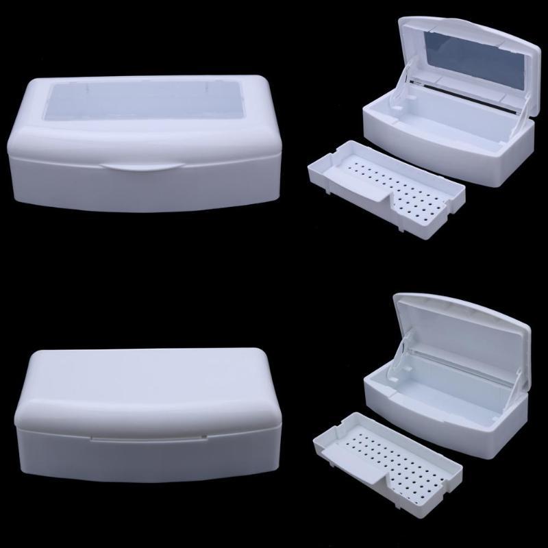 1 ensemble Pro stérilisateur désinfection boîte Salon ongles métal outils désinfecteur Transparent ongles Accessoires ongles manucure Machine