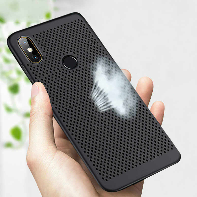 Case for Xiaomi Redmi Note 7 6 5 pro 5A 6A 4X 5plus cover Mi A2lite Slim Heat Dissipation Breathable Cooling Hard PC Case Shell