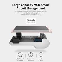 ยี่ห้อใหม่แบบพกพา 5000 mAh Type C Battery Pack Power Bank พร้อม Bluetooth เชื่อมต่อกับฟังก์ชั่นถ่ายภาพโทรศัพท์ powerbank