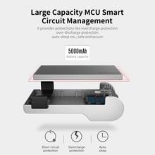새로운 휴대용 5000 mah 유형 c 건전지 팩 bluetooth를 가진 소형 힘 은행은 기능을 쏘기 위하여 연결한다 전화 위탁 powerbank