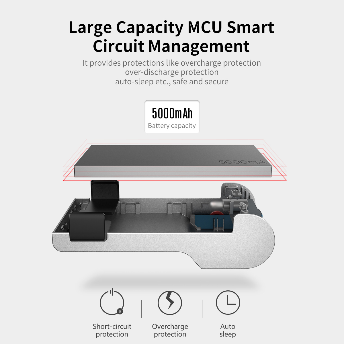 Brand New Portable 5000mAh Type C Battery Pack Mini Power Bank with Bluetooth Connect to Shoot Function Phone Charging Powerbank-in Power Bank from Cellphones & Telecommunications    1