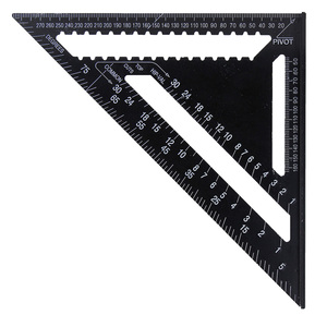 "Image 3 - 30cm Aluminium Set Quadrat herrscher 12 ""Protractors Rafter Winkel Rahmen Mess Carpenter Messung holzbearbeitung Dreieckigen Regel"