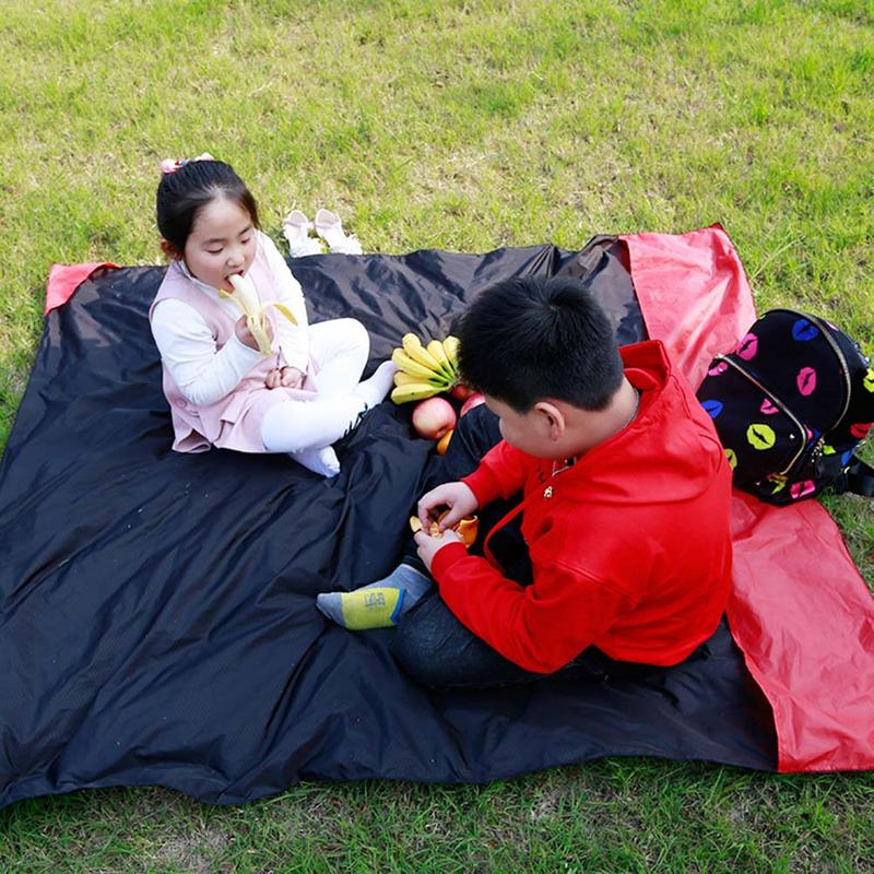 Portable Cushion Outdoor Blanket Travel Picnic Beach Pocket Compact for Camping Festival