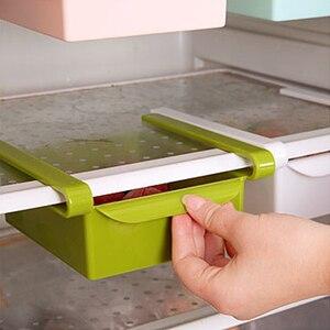 Hot Sale Slide Kitchen Storage Boxes durable Fridge Freezer Space Saver Organizer Storage Rack Shelf Holder Drawer