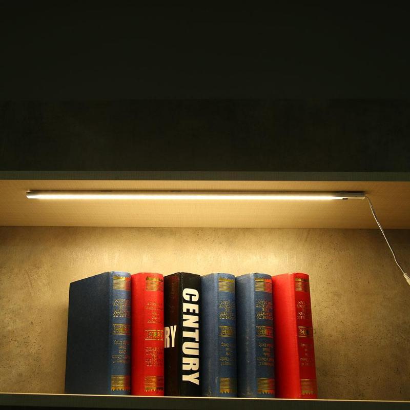 Warm White LED Hand Sweep Switch Infrared Sensor Lamp Under Cabinet Light