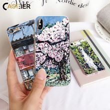 CASEIER Animal Floral Pattern Phone Case For iPhone X XR XS MAX 5 5s SE Painting Phone Case For iPhone 8 7 6 6s Plus Fundas цена и фото