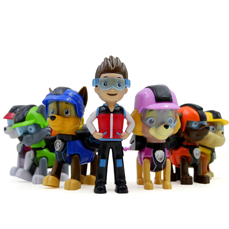 6 Style Paw Patrol Action Figure Dog One-click Deformation Dog With Shield Toys Juguetes Canine Puppy Dogs Figure Ornaments