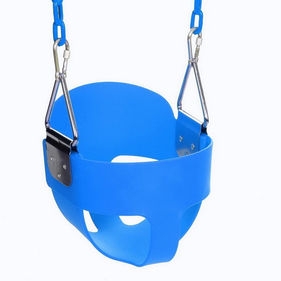 3 couleurs en plein air enfants plein seau balançoire jouer enfants haut dossier bébé balançoire siège avec 1.5 m enduit aire de jeux chaîne