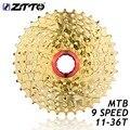 ZTTO 9 s 27 s скоростная бесскоростная кассета для горного велосипеда, запчасти для горного велосипеда 11-36 T для золотых деталей M370 Gold M4000 M430 M590