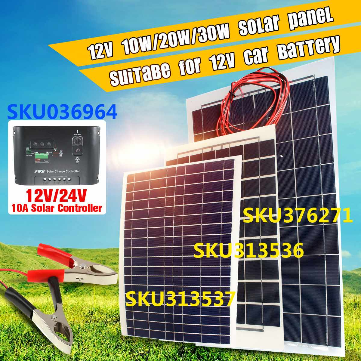 Cable 30W 12V Semi Flexible Solar Panel Battery Charger  For RV Boat Motorhome for trickle battery productsCable 30W 12V Semi Flexible Solar Panel Battery Charger  For RV Boat Motorhome for trickle battery products