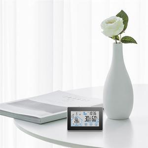 Image 2 - Baldr Draadloze Weerstation Digitale Touch Hygrometer Vochtigheid Meter Temperatuur Sensor Thermometer Indoor Outdoor Wandklok