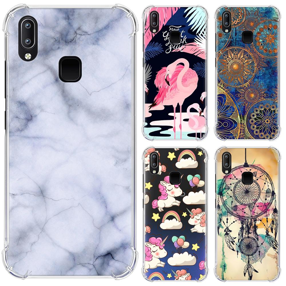 Anti-falling Phone Case For Vivo Y91 / Y95 / U1 / Y91i Stylish Painted With Airbag Back Phone Cover(China)
