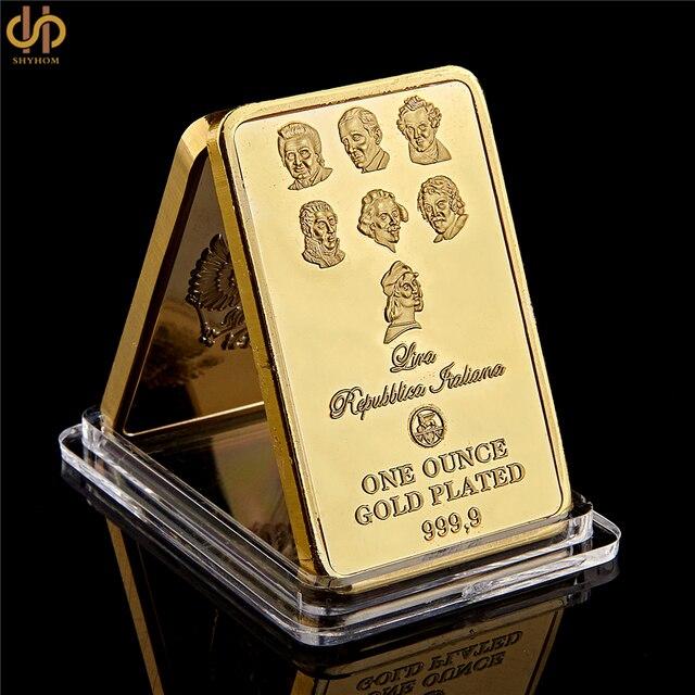 24 K Satu Ons Emas Plated 9999 Kolektor Passione Per Le Aste Emas