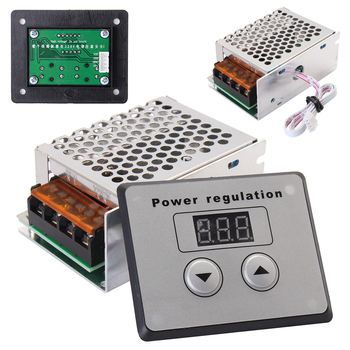 цена на 4000W 220V AC SCR Stable silicon control Power Electronic Voltage Regulator Dimmer Electric Motor Speed Controller