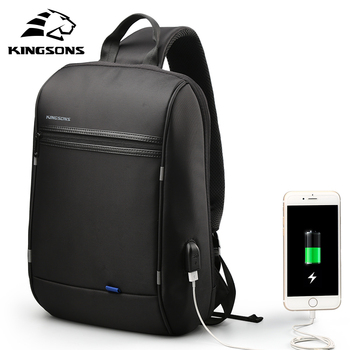 Kingsons 13.3 inch Anti-theft USB Charging Messenger Chest Bag Wateproof Single Shoulder Laptop Backpack for Men Women - discount item  38% OFF Laptop Parts & Accessories