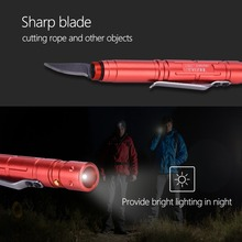 Outdoor Defense Tactical Pen Multi-Function Pen Mini LED Flashlight Equipment Accessory Lightweight And Portable
