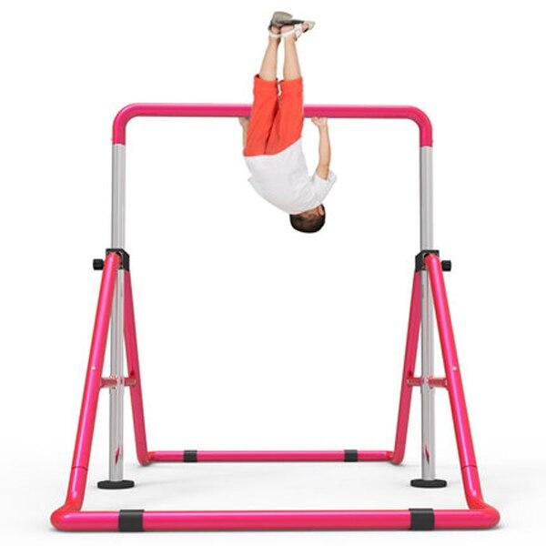 Barres horizontales d'intérieur d'enfants barres de traction réglables de force musculaire de ménage portatif pliable d'équipement de forme physique de gymnase d'enfants