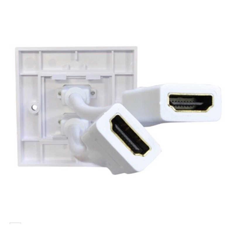 HDMI Twin Dual Faceplate แผ่นผนังซ็อกเก็ต 2 พอร์ต-สำหรับแบบบูรณาการสาย