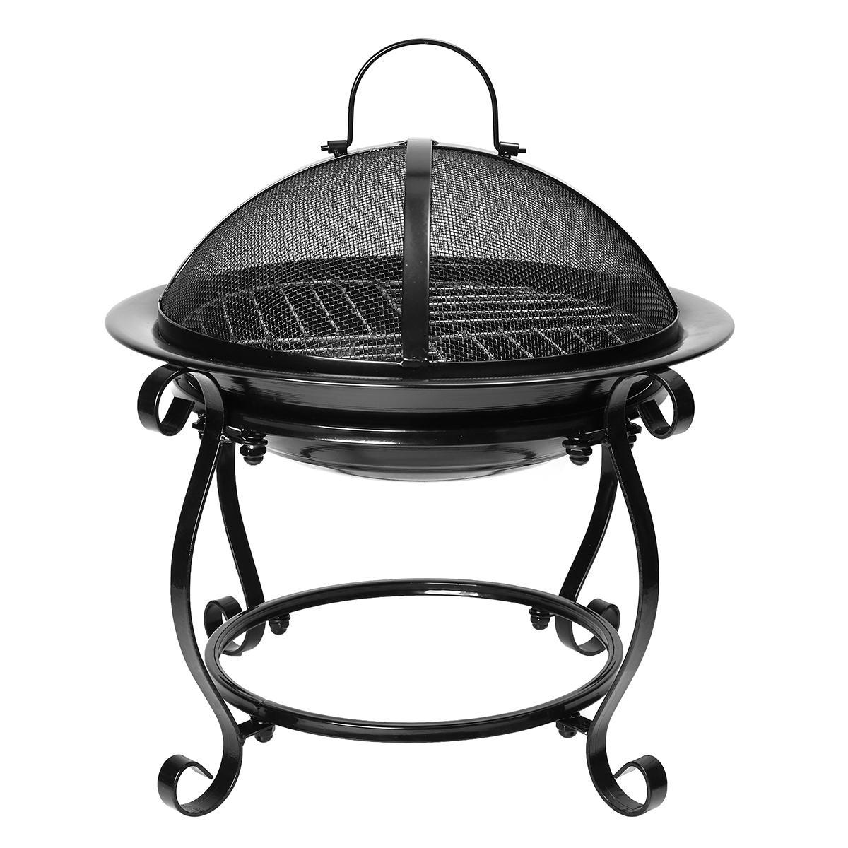 Extérieur Portable Barbecue Grill brûleur cuisinière Patio jardin cour fête poêle extérieur Camping pique-nique Barbecue Rack ustensiles de cuisine noir